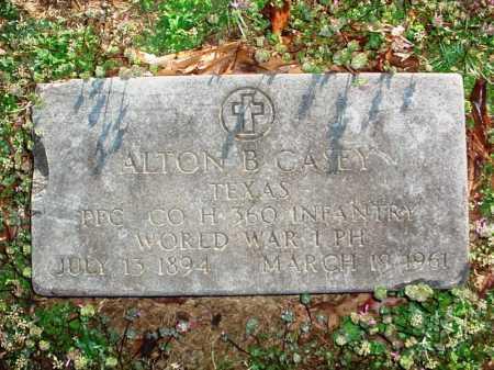 CASEY (VETERAN WWI), ALTON B - Benton County, Arkansas   ALTON B CASEY (VETERAN WWI) - Arkansas Gravestone Photos