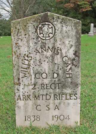 CASH (VETERAN CSA), WILLIS ANNIS - Benton County, Arkansas | WILLIS ANNIS CASH (VETERAN CSA) - Arkansas Gravestone Photos