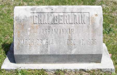CHAMBERLAIN, ARRAWANNAH - Benton County, Arkansas   ARRAWANNAH CHAMBERLAIN - Arkansas Gravestone Photos