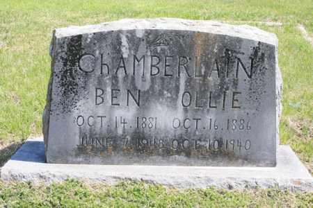 CHAMBERLAIN, OLLIE - Benton County, Arkansas   OLLIE CHAMBERLAIN - Arkansas Gravestone Photos