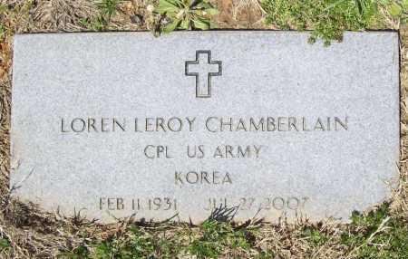 CHAMBERLAIN (VETERAN KOR), LOREN LEROY - Benton County, Arkansas   LOREN LEROY CHAMBERLAIN (VETERAN KOR) - Arkansas Gravestone Photos