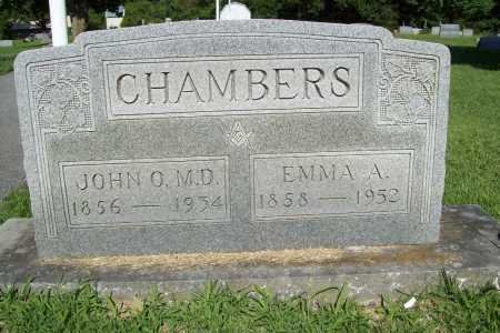 CHAMBERS, EMMA A. - Benton County, Arkansas   EMMA A. CHAMBERS - Arkansas Gravestone Photos
