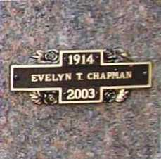 CHAPMAN, EVELYN T. - Benton County, Arkansas   EVELYN T. CHAPMAN - Arkansas Gravestone Photos
