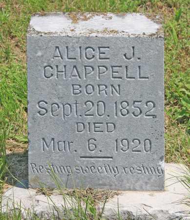 CHAPPELL, ALICE J - Benton County, Arkansas   ALICE J CHAPPELL - Arkansas Gravestone Photos