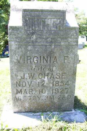 CHASE, VIRGINIA F - Benton County, Arkansas | VIRGINIA F CHASE - Arkansas Gravestone Photos