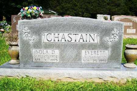 CHASTAIN, EVERETT - Benton County, Arkansas | EVERETT CHASTAIN - Arkansas Gravestone Photos