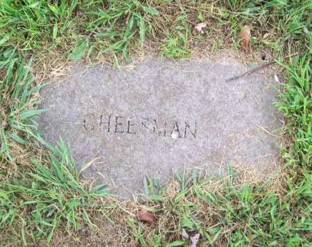CHEESMAN, UNKNOWN - Benton County, Arkansas | UNKNOWN CHEESMAN - Arkansas Gravestone Photos