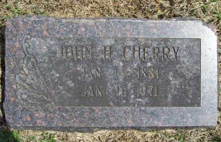 CHERRY, JOHN H. - Benton County, Arkansas   JOHN H. CHERRY - Arkansas Gravestone Photos