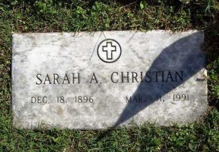CHRISTIAN, SARAH A. - Benton County, Arkansas   SARAH A. CHRISTIAN - Arkansas Gravestone Photos