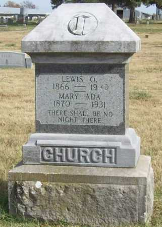 JINES CHURCH, MARY ADA - Benton County, Arkansas | MARY ADA JINES CHURCH - Arkansas Gravestone Photos