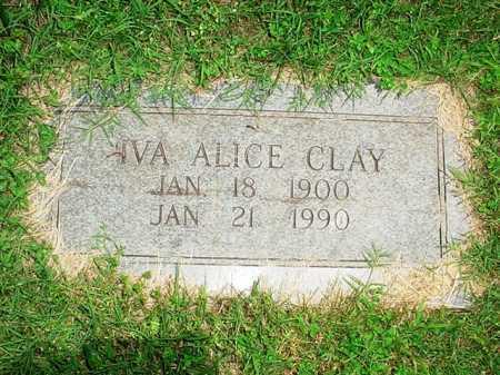 CLAY, IVA ALICE - Benton County, Arkansas | IVA ALICE CLAY - Arkansas Gravestone Photos