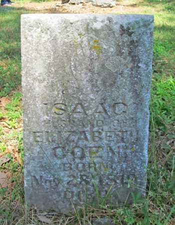 COEN, ISAAC - Benton County, Arkansas | ISAAC COEN - Arkansas Gravestone Photos