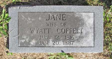 COFFELT, JANE - Benton County, Arkansas | JANE COFFELT - Arkansas Gravestone Photos