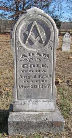 COLE, ADAM - Benton County, Arkansas | ADAM COLE - Arkansas Gravestone Photos