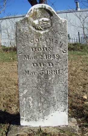 COLEMAN, E. - Benton County, Arkansas | E. COLEMAN - Arkansas Gravestone Photos