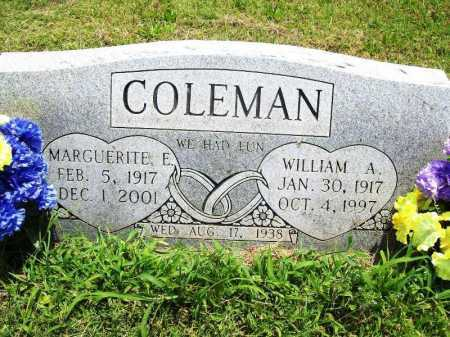 COLEMAN, WILLIAM A. - Benton County, Arkansas | WILLIAM A. COLEMAN - Arkansas Gravestone Photos