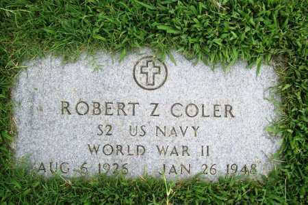 COLER (VETERAN WWII), ROBERT Z. - Benton County, Arkansas | ROBERT Z. COLER (VETERAN WWII) - Arkansas Gravestone Photos