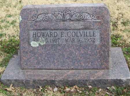 COLVILLE, HOWARD E. - Benton County, Arkansas   HOWARD E. COLVILLE - Arkansas Gravestone Photos