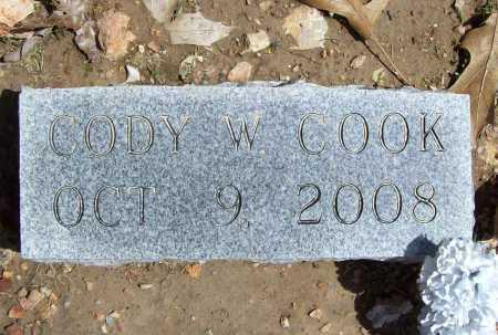 COOK, CODY W - Benton County, Arkansas | CODY W COOK - Arkansas Gravestone Photos