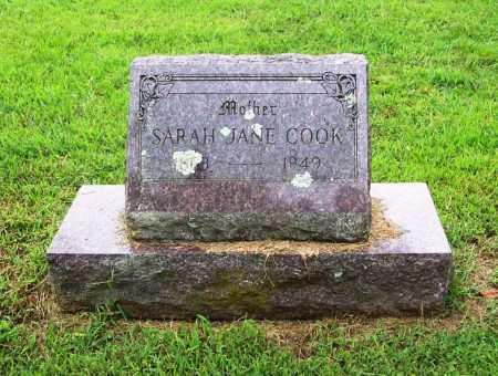 COOK, SARAH JANE - Benton County, Arkansas | SARAH JANE COOK - Arkansas Gravestone Photos