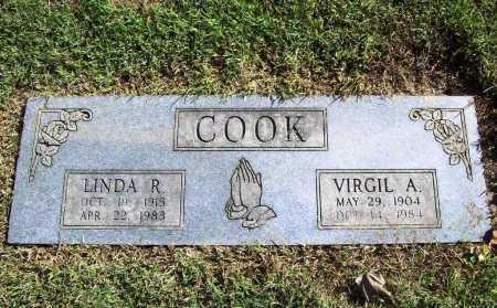 COOK, VIRGIL A. - Benton County, Arkansas | VIRGIL A. COOK - Arkansas Gravestone Photos