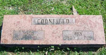 COONFIELD, BENJAMIN FRANKLIN - Benton County, Arkansas   BENJAMIN FRANKLIN COONFIELD - Arkansas Gravestone Photos