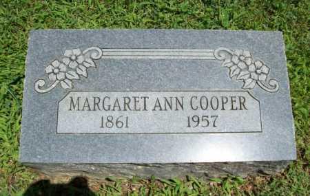 COOPER, MARGARET ANN - Benton County, Arkansas   MARGARET ANN COOPER - Arkansas Gravestone Photos