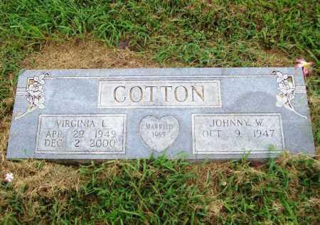 COTTON, VIRGINIA LOUISE - Benton County, Arkansas   VIRGINIA LOUISE COTTON - Arkansas Gravestone Photos