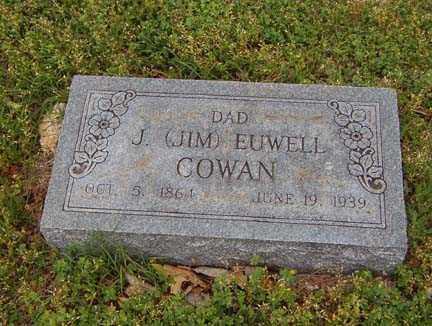 COWAN, J. JIM EUWELL - Benton County, Arkansas | J. JIM EUWELL COWAN - Arkansas Gravestone Photos