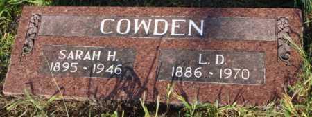 COWDEN, L. D. - Benton County, Arkansas | L. D. COWDEN - Arkansas Gravestone Photos