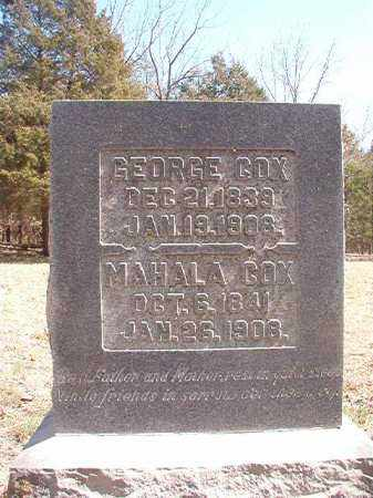 COX, GEORGE - Benton County, Arkansas | GEORGE COX - Arkansas Gravestone Photos