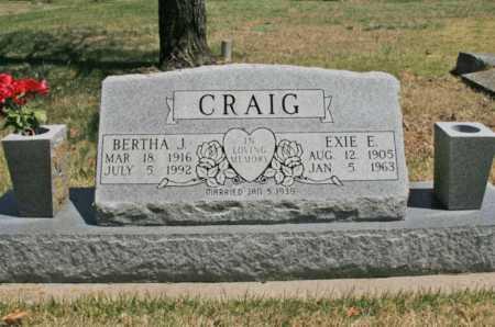 CRAIG, EXIE E. - Benton County, Arkansas | EXIE E. CRAIG - Arkansas Gravestone Photos