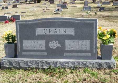 CRAIN, LEO AMBROSE - Benton County, Arkansas | LEO AMBROSE CRAIN - Arkansas Gravestone Photos