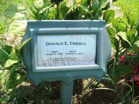 CREECH, DONALD E. - Benton County, Arkansas | DONALD E. CREECH - Arkansas Gravestone Photos