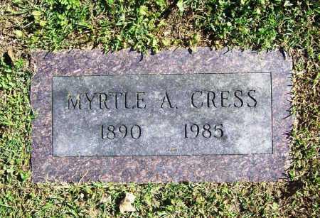 CRESS, MYRTLE A. - Benton County, Arkansas   MYRTLE A. CRESS - Arkansas Gravestone Photos