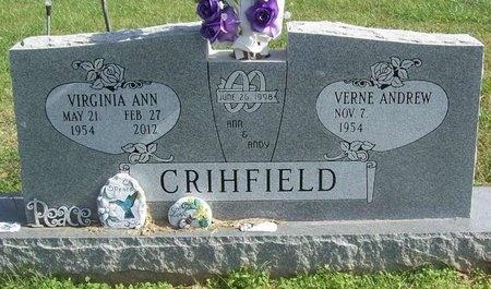 CARTER CRIHFIELD, VIRGINIA ANN - Benton County, Arkansas | VIRGINIA ANN CARTER CRIHFIELD - Arkansas Gravestone Photos