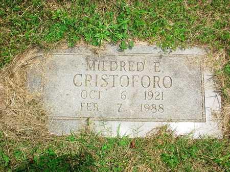 CRISTOFORO, MILDRED E. - Benton County, Arkansas | MILDRED E. CRISTOFORO - Arkansas Gravestone Photos