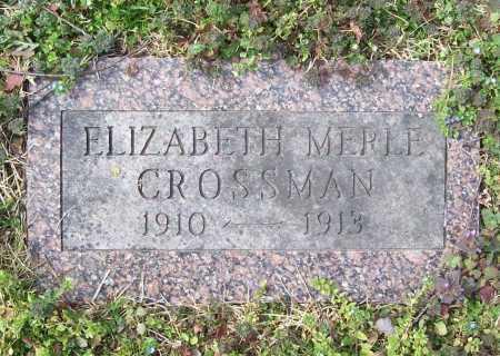 CROSSMAN, ELIZABETH MERLE - Benton County, Arkansas | ELIZABETH MERLE CROSSMAN - Arkansas Gravestone Photos