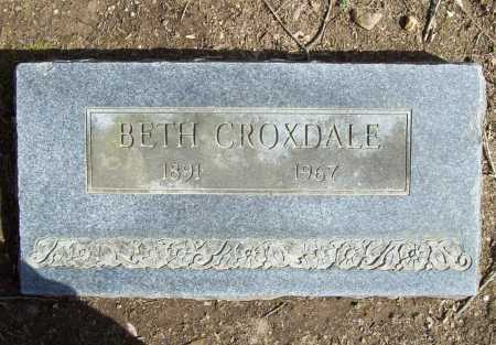 CROXDALE, BETH - Benton County, Arkansas | BETH CROXDALE - Arkansas Gravestone Photos