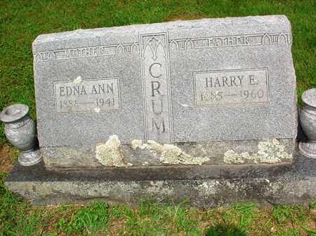 CRUM, EDNA ANN - Benton County, Arkansas   EDNA ANN CRUM - Arkansas Gravestone Photos