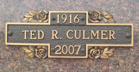 CULMER, TED R. - Benton County, Arkansas | TED R. CULMER - Arkansas Gravestone Photos