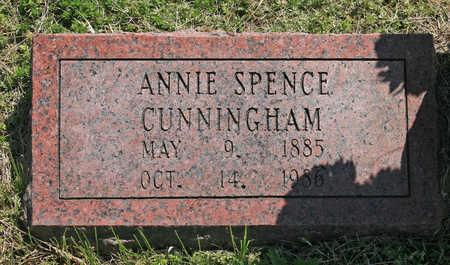 SPENCE CUNNINGHAM, ANNIE - Benton County, Arkansas   ANNIE SPENCE CUNNINGHAM - Arkansas Gravestone Photos