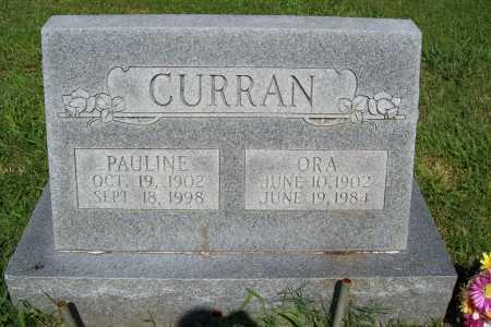 CURRAN, ORA - Benton County, Arkansas | ORA CURRAN - Arkansas Gravestone Photos