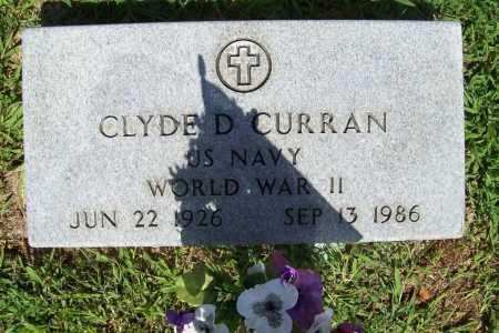 CURRAN (VETERAN WWII), CLYDE D. - Benton County, Arkansas | CLYDE D. CURRAN (VETERAN WWII) - Arkansas Gravestone Photos