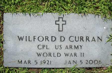 CURRAN (VETERAN WWII), WILFORD D. - Benton County, Arkansas | WILFORD D. CURRAN (VETERAN WWII) - Arkansas Gravestone Photos