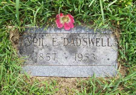 DADSWELL, CYRIL E. - Benton County, Arkansas | CYRIL E. DADSWELL - Arkansas Gravestone Photos