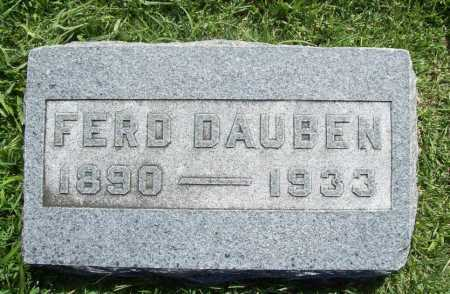 DAUBEN, FERD - Benton County, Arkansas   FERD DAUBEN - Arkansas Gravestone Photos