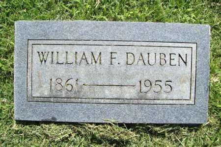 DAUBEN, WILLIAM F - Benton County, Arkansas | WILLIAM F DAUBEN - Arkansas Gravestone Photos