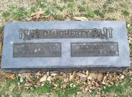 DAUGHERTY, LEONARD H. - Benton County, Arkansas | LEONARD H. DAUGHERTY - Arkansas Gravestone Photos