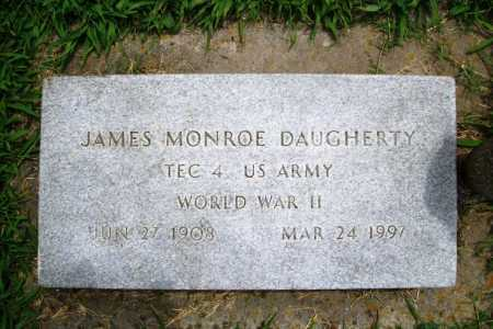 DAUGHERTY (VETERAN WWII), JAMES MONROE - Benton County, Arkansas | JAMES MONROE DAUGHERTY (VETERAN WWII) - Arkansas Gravestone Photos